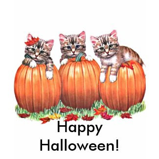 Kittens on Pumpkins for Halloween shirt