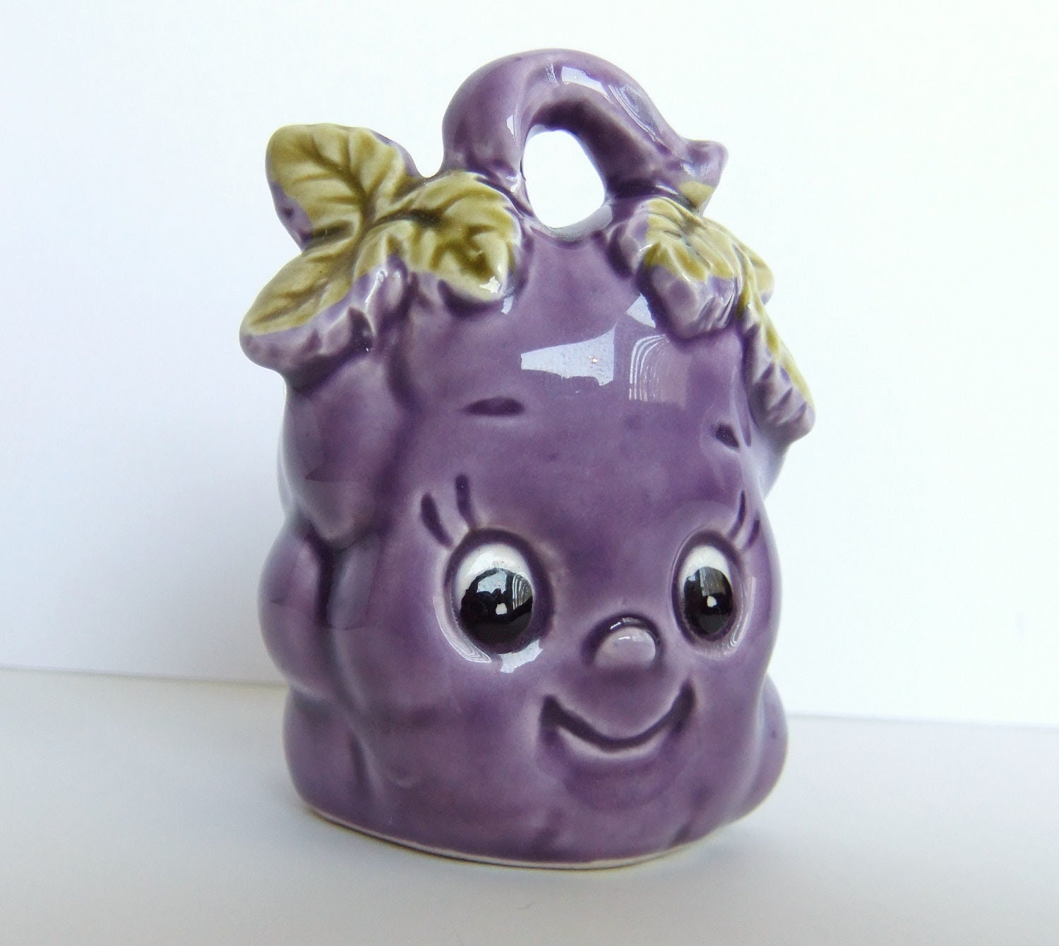 Grape Toothpick Holder Anthropomorfic Purple Grapes by JadeMade82
