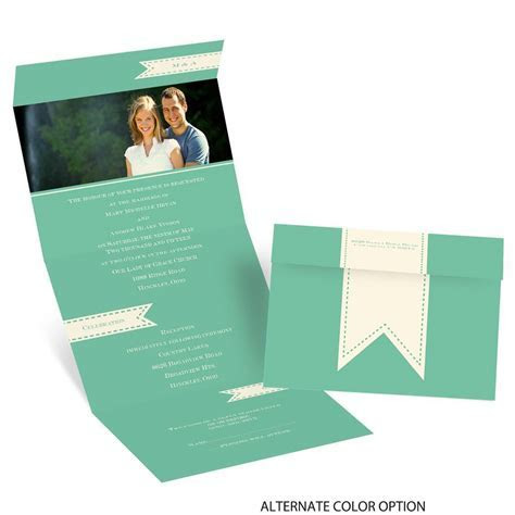 Ribbon Tabs Seal and Send Invitation   Invitations by Dawn