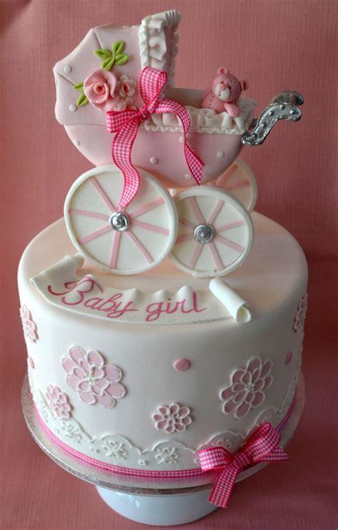 Baby Girl Carriage Baby Shower Cake   Amazing Cake Ideas