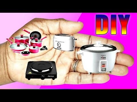 4 DIY Dollhouse Hacks | Easy hacks tutorial | How to make rice cooker, t...