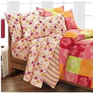 Dorm Bedding Girls Hawaiian Hibiscus Teen Full Comforter Set