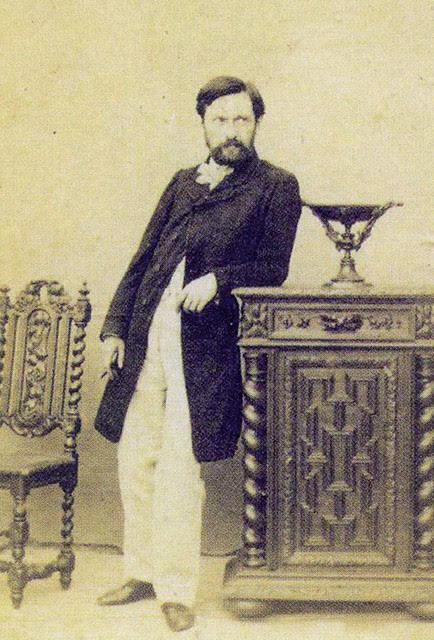 Retrato de Jean Laurent, carta de visita.  Colección Juan Naranjo