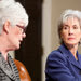 Sandy Praeger, left, the insurance commissioner of Kansas, and Kathleen Sebelius, the secretary of health and human services, in 2010. Kansas is one of the states that did not expand Medicaid.