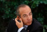 Felipe Calderón,  titular del Ejecutivo. Foto: Germán Canseco