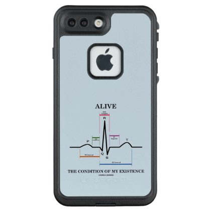 Alive The Condition Of My Existence ECG Heartbeat LifeProof® FRĒ® iPhone 7 Plus Case
