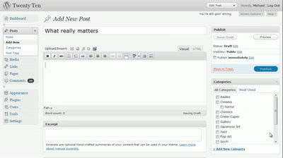 "Introducing WordPress 3.0 \""Thelonious\"""