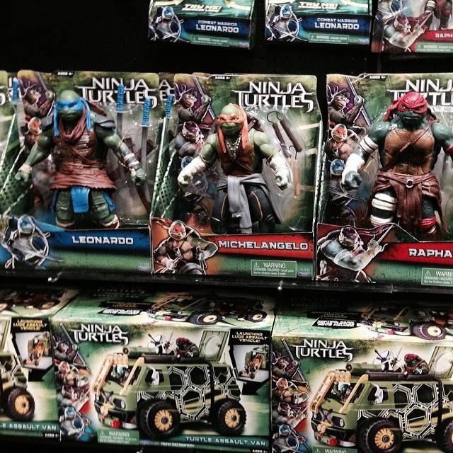 juguetes Tortugas Ninja con camión