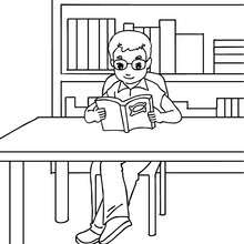 Dibujos Para Colorear Alumna En La Biblioteca Eshellokidscom