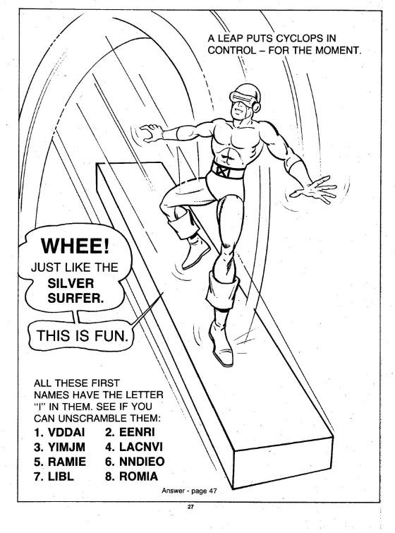 X-Men Super Activity Book00028