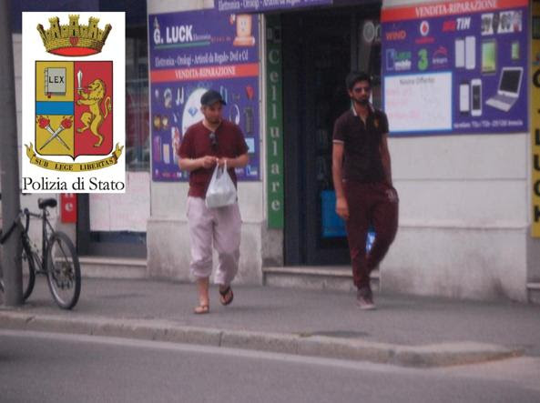 I due stranieri arrestati il 22 luglio, a Brescia, per sospetti legami con l'Isis
