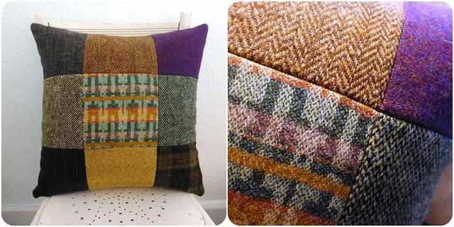 """Uncle Jerry's tweed/wool cushion (18"""")"""
