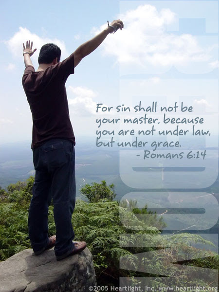 Inspirational illustration of Romans 6:14