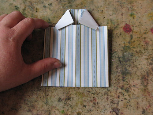 Origami Shirt Card & Tie 009