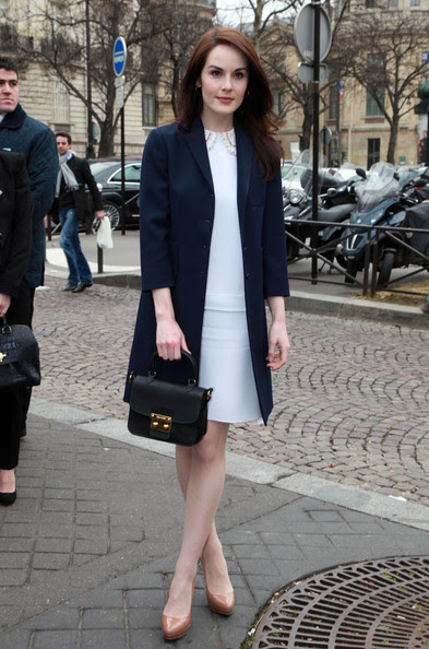 Michelle Dockery - Celebs Attend the Miu Miu Fashion Show in Paris