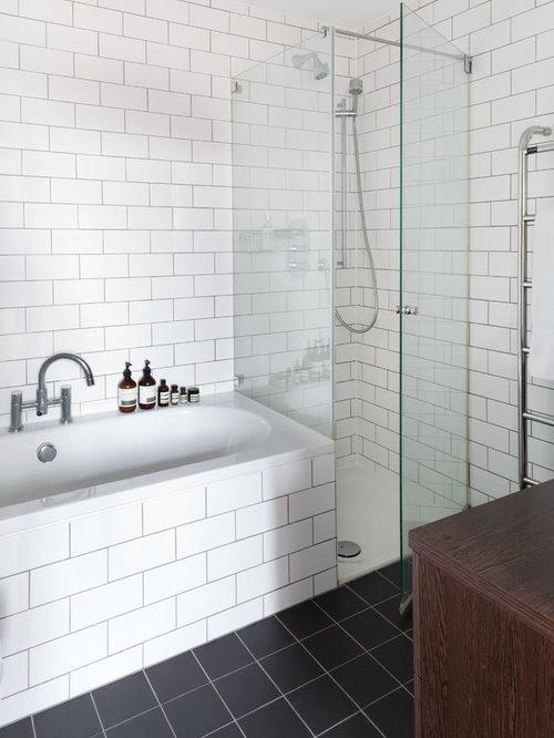 White Tile Bathroom Home Design Ideas, Pictures, Remodel ...