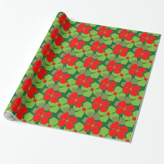 Seasonal Warm and Happy Design on Wrapping Paper