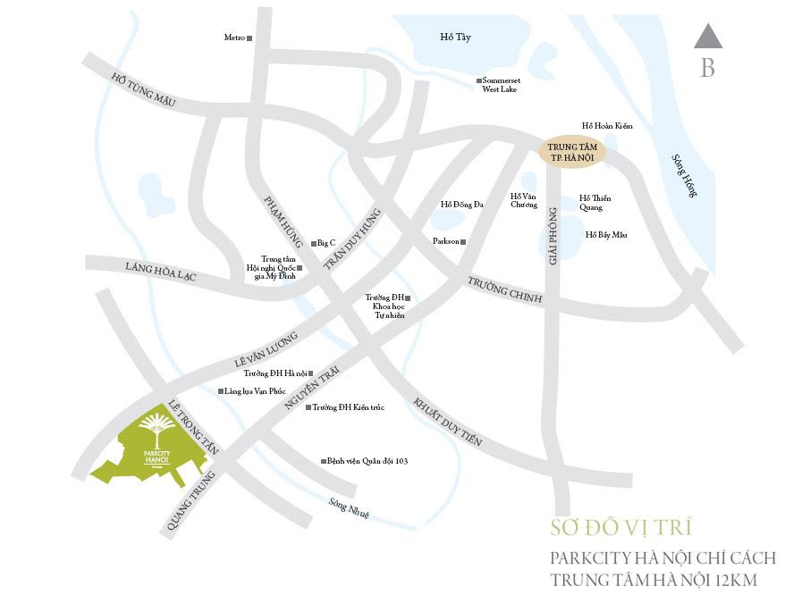 Vị trí khu đô thị Park City