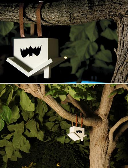upside down birdhouse for bats by Estudio Estres