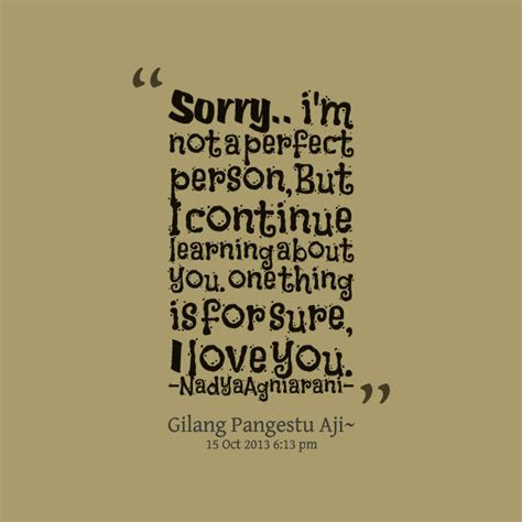 Im Sorry Im Not Perfect Quotes