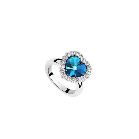 Chic Rhinestone Decorated Heart Shape Women's Ring