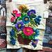 Crewel Embroidery, Vintage Floral
