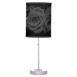 Black and Gray Rose Table Lamp