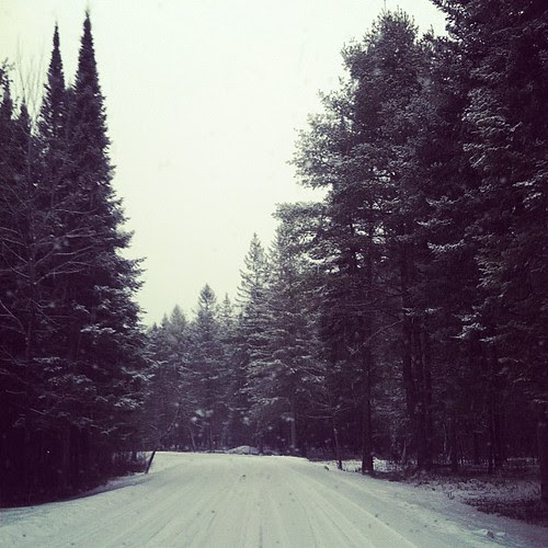 See, I told Zach we'd get more snow soon... (the driveway at D's school, don't worry I stopped to take this pic)