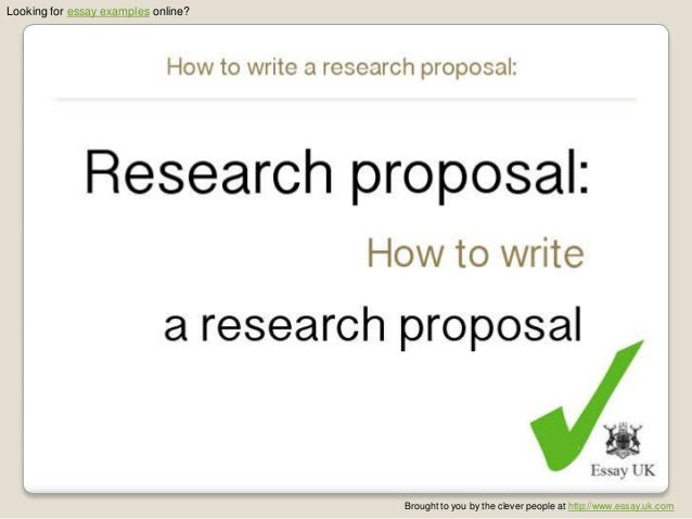 How to write a proposal essay examples