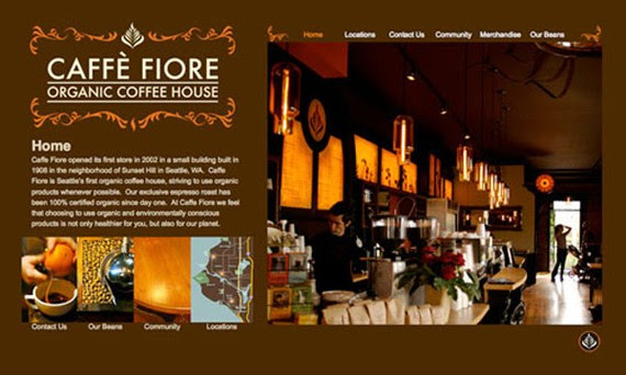 cafe fiore coffee website 30 Sitios web sobre café para inspirarte