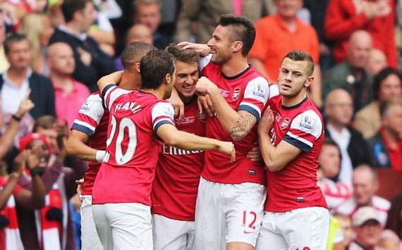 Aaron Ramsey,Arsenal v Stoke City - Premier League