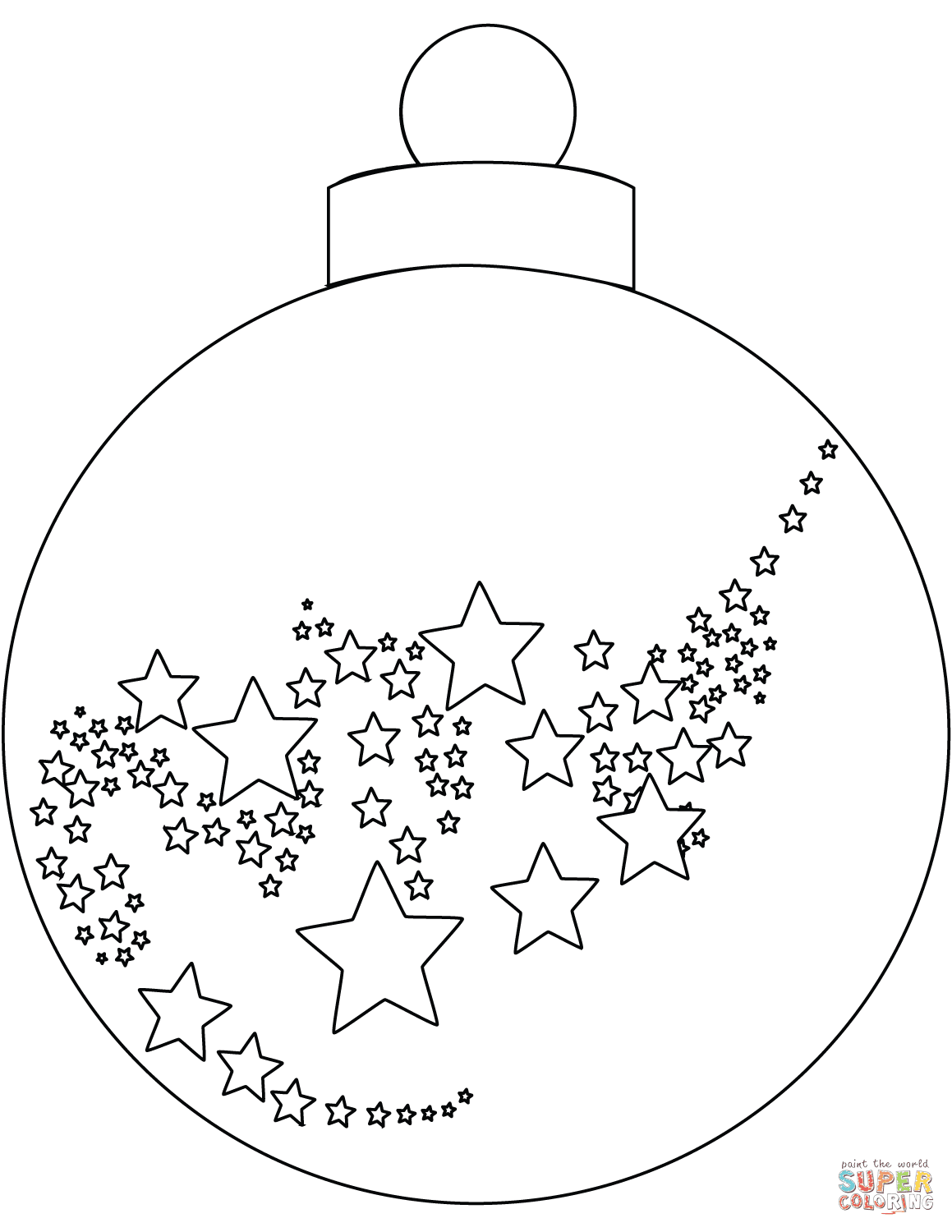 Christmas Ornaments Coloring Pages Coloring And Drawing