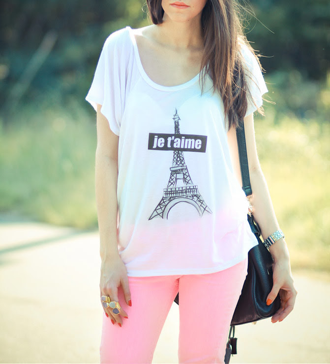 Fashion Outfit, Neon Pink Skinny Jeans, Giveaway Stranded Label