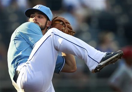 Kansas City Royals Relief Pitcher Tim Collins Delivers