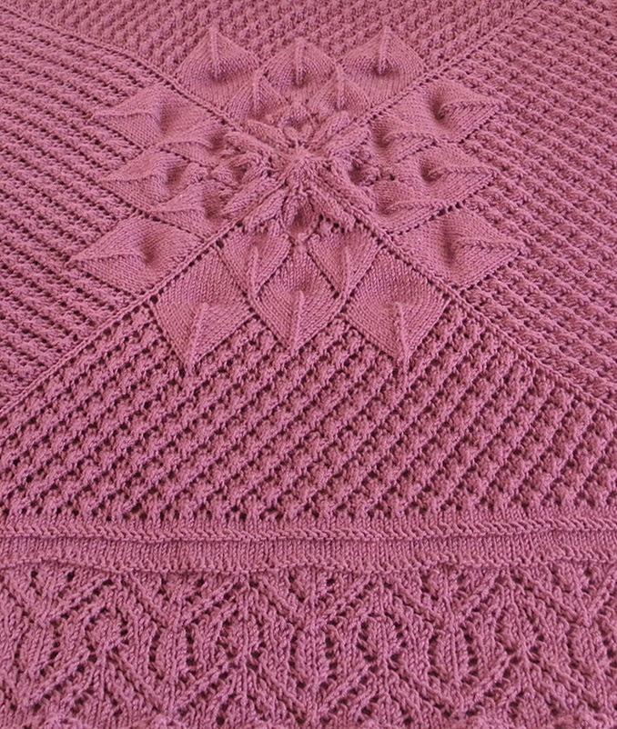 Free Knitting Pattern for Knitting on the Border Blanket