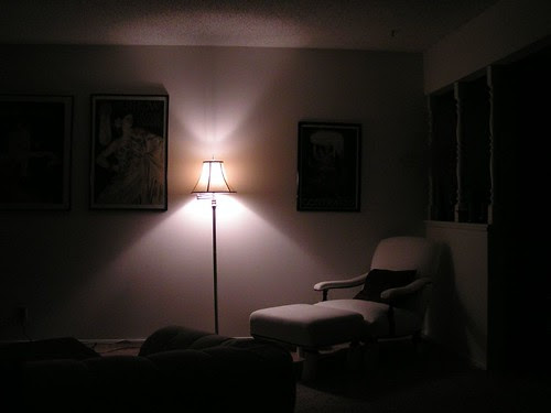 the light in the living room