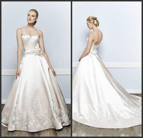 Fashion Ivory Wedding Dresses 2016 Applique Handmade