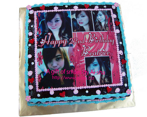 Birthday Cake With Edible Image