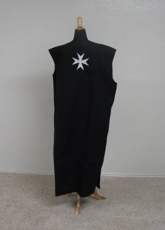 Medieval Knights Surcoat Tabard Tunic with embroidered Maltese Cross