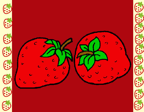 Dibujo De Fresas Pintado Por Luna222 En Dibujos Net El Dia 05 05 12