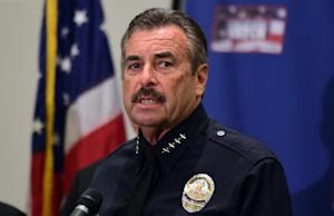 LAPD Chief Charlie Beck addresses the media at Police …
