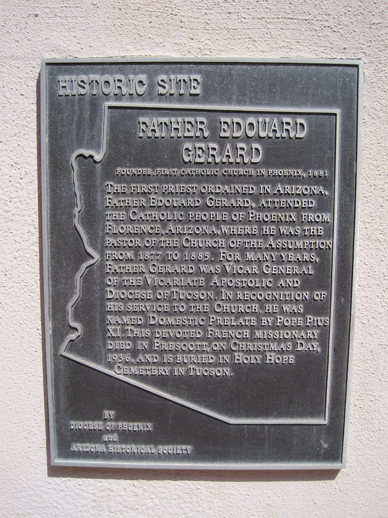 Arizona Historical Marker - Father Edouard Gerard