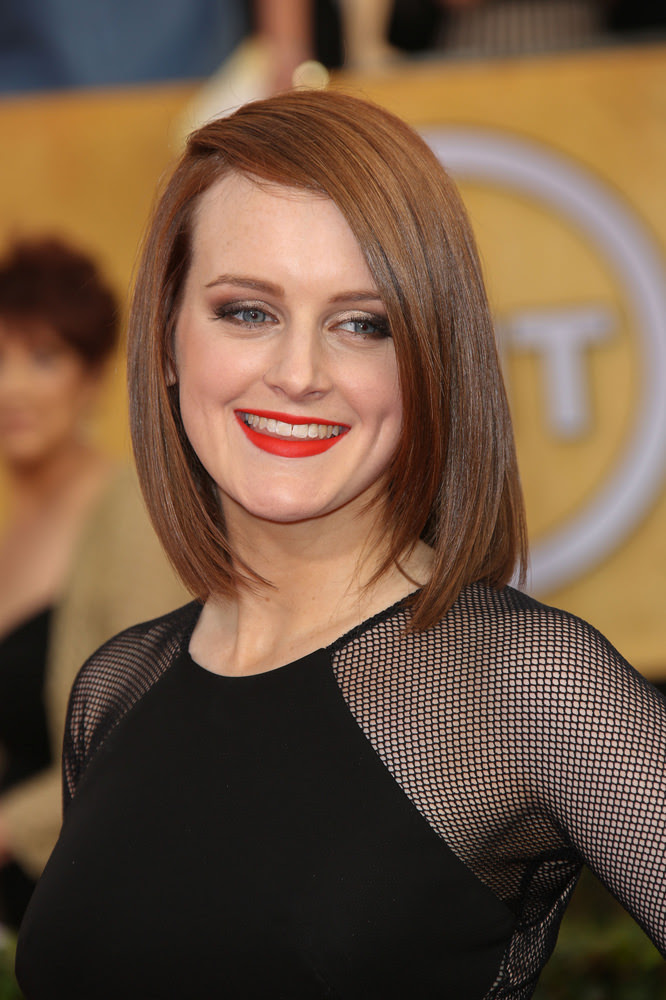 Sophie McShera Bob with Deep Side Part