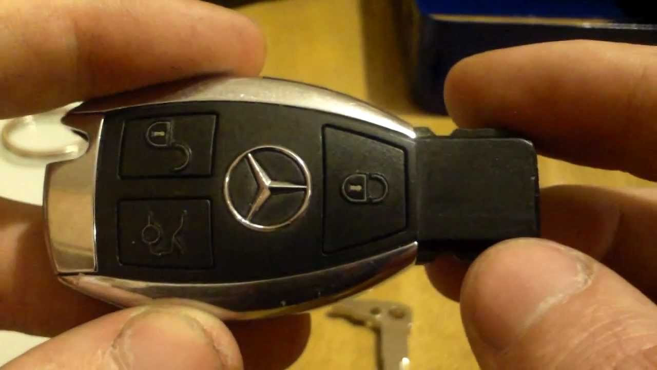 Mercedes w202 chrome smart key battery replacement and ...