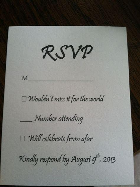 25  best ideas about Wedding response cards on Pinterest
