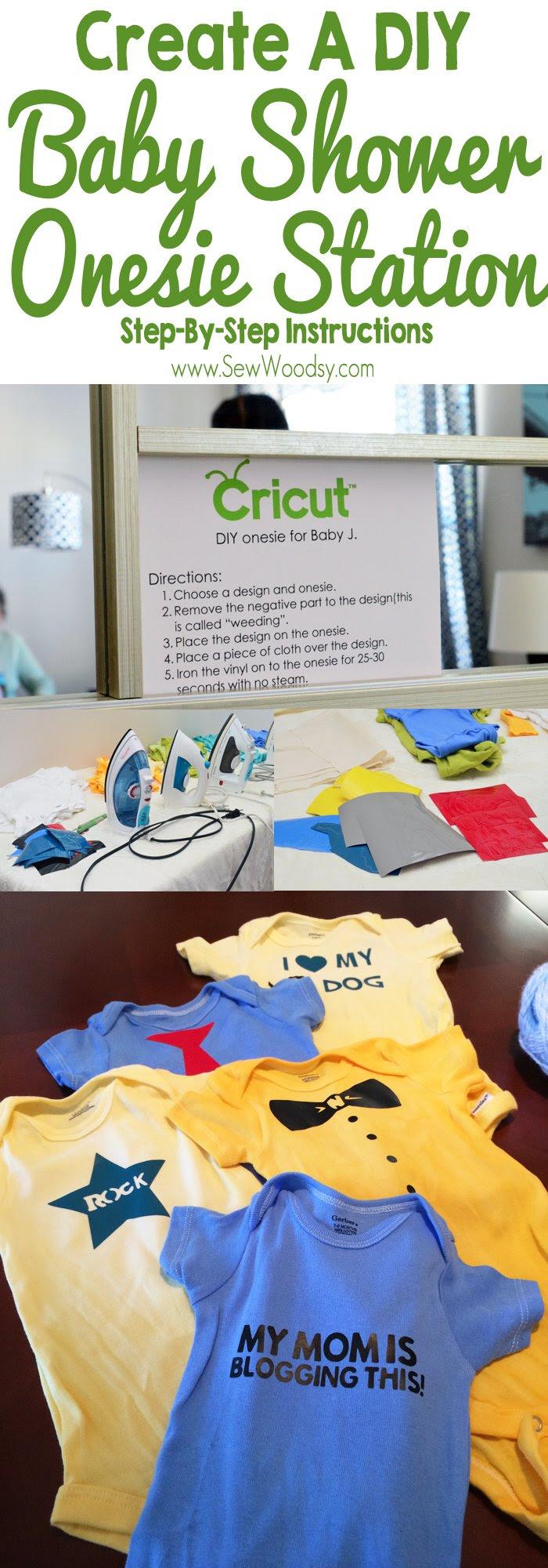 Baby Shower Onesie Station Sew Woodsy