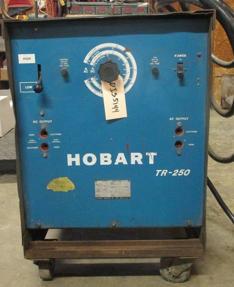 Hobart TR250 Arc welder on cart. | Daves Industrial ...