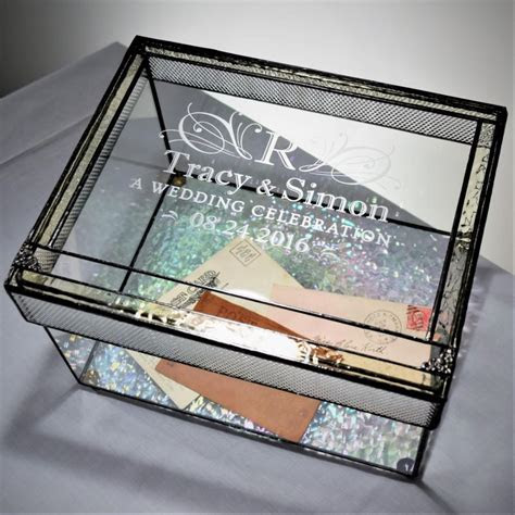 Wedding Card Box Personalized Engraved Large Card Box