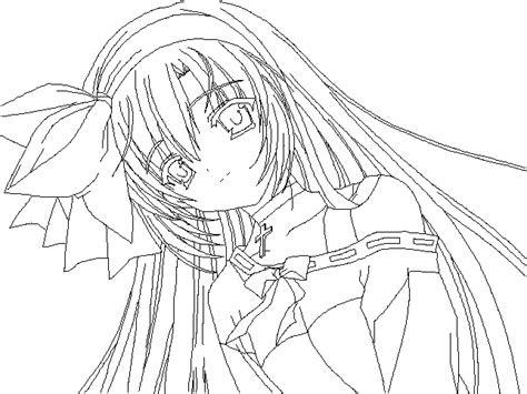 random anime girl lineart  nanachan  deviantart