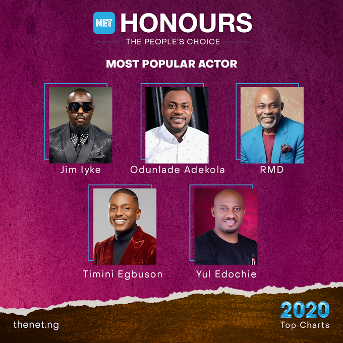NET Honours 2020: RMD, Yul Edochie, Odunlade Adekola Others Nominated for 'Most Popular Actor'